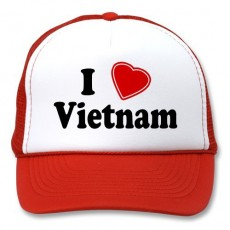 Decal nhiệt in logo màu ép túi xách, mũ, nón vải